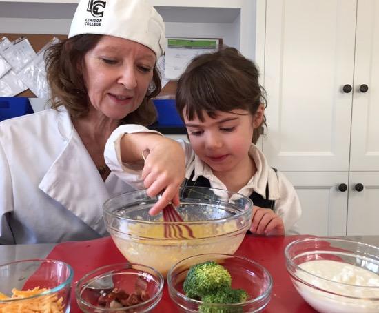Julia child postscript on cooking with children for Julia child cooking school