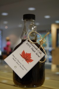 One of the bottles of maple syrup made from scratch by the Clanmore Middle School students.